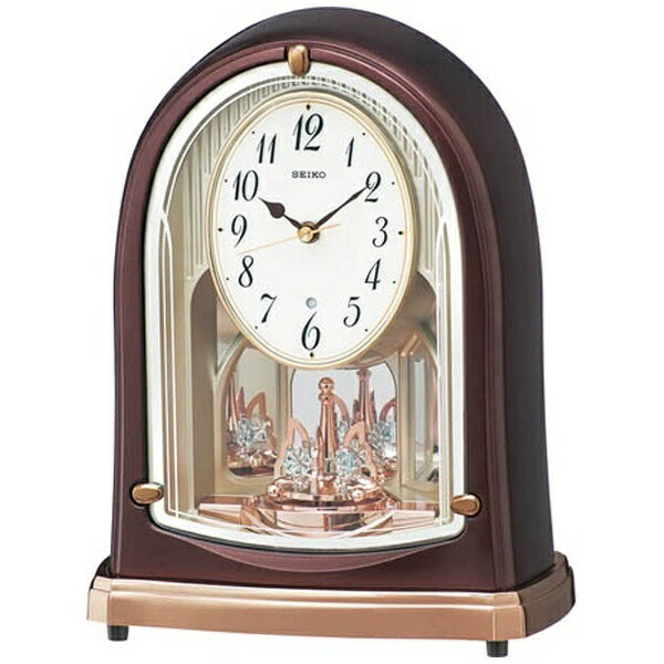 セイコーSEIKO置き時計【スタンダード】茶メタリックBY239B[電波自動受信機能有]