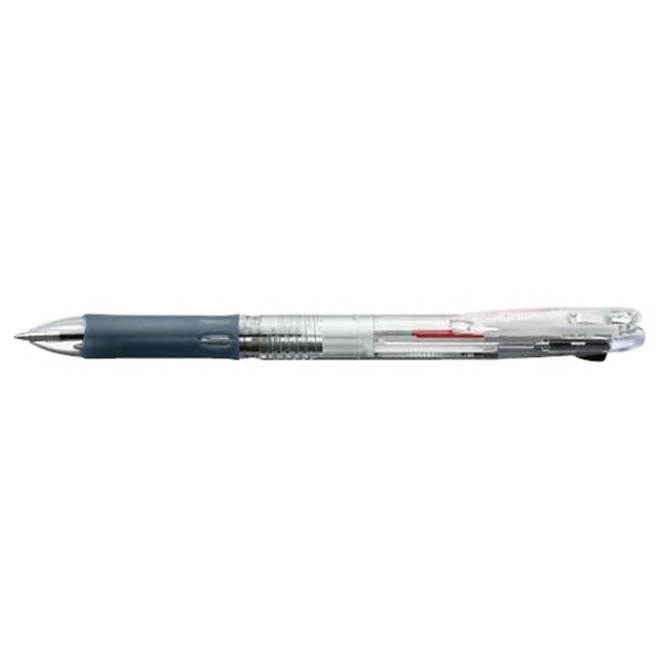 ゼブラZEBRA[油性ボールペン]クリップ-オンスリム2C(2色ボールペン)透明(ボール径:0.7mm)B2A5-C