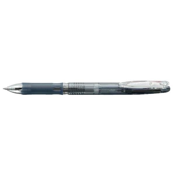 ゼブラZEBRA[油性ボールペン]クリップ-オンスリム3C(3色ボールペン)黒(ボール径:0.7mm)B3A5-BK