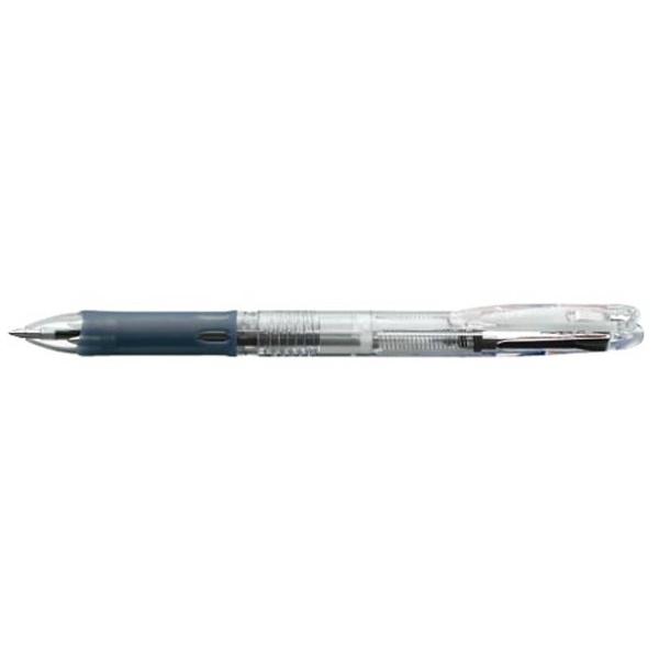 ゼブラZEBRA[油性ボールペン]クリップ-オンスリム3C(3色ボールペン)透明(ボール径:0.7mm)B3A5-C