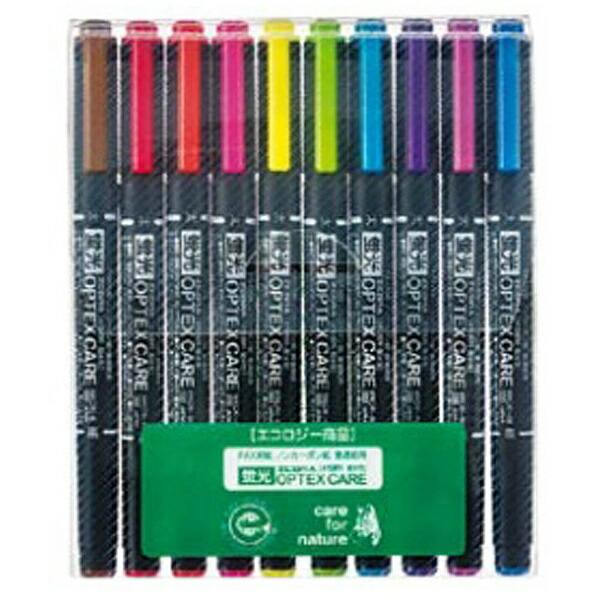 ゼブラZEBRA[蛍光ペン]蛍光オプテックスケア10色シースWKCR1-10C