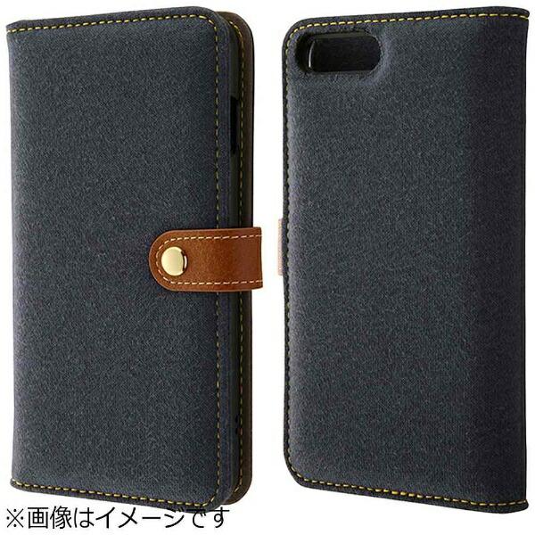 レイアウトrayoutiPhone7Plus用手帳型ファブリックスウェットダークネイビーRT-P13FBC1/DN