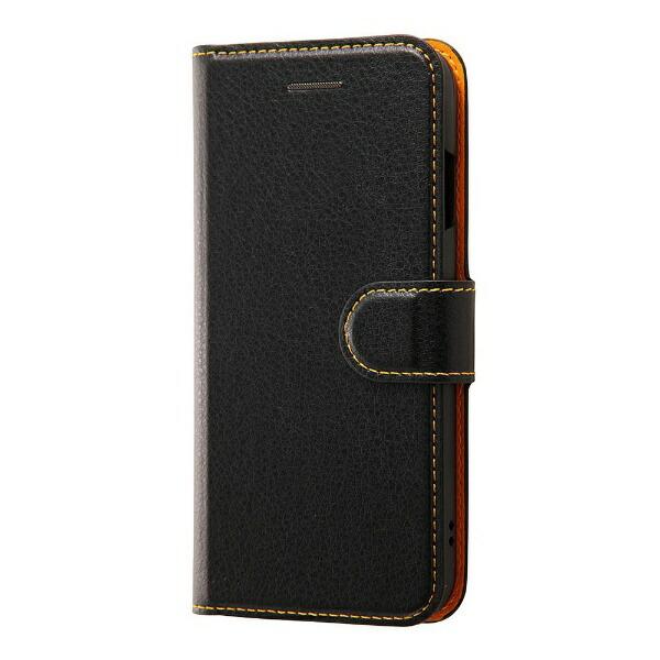 d7b6057a1f レイアウトrayoutiPhone7用手帳型ケースシンプルマグネットブラック/オレンジRT-P12ELC1/BOR