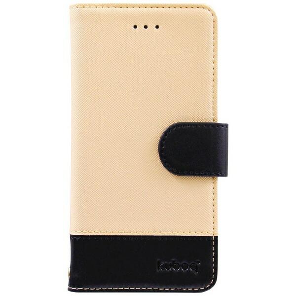 ff0c32377c OWLTECHオウルテックiPhone7用kuboq手帳型ケースPUカードポケット付スタンド機能ベージュx