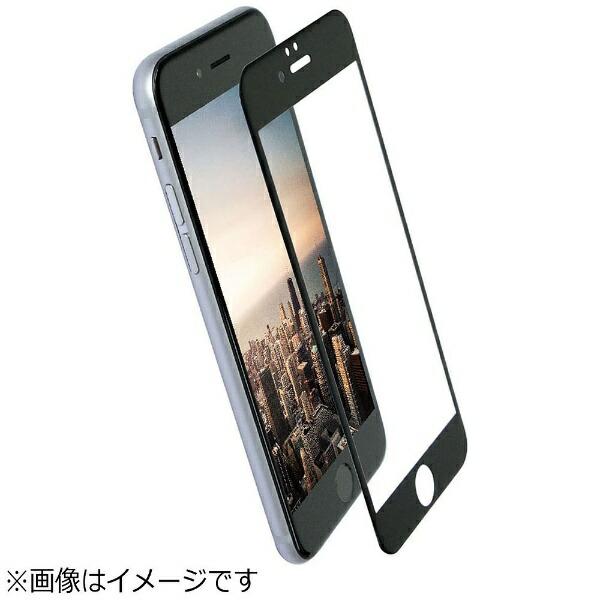 OWLTECHオウルテックiPhone7Plus用液晶保護強化ガラスPETフレーム全面保護クリア0.26mm厚ブラックOWL-TGPIP7PFS-BCL