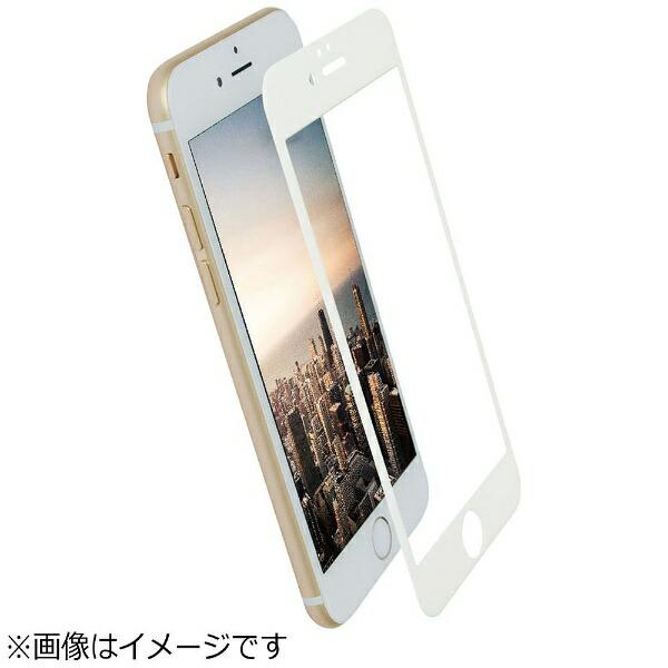 OWLTECHオウルテックiPhone7Plus用液晶保護強化ガラスPETフレーム全面保護クリア0.26mm厚ホワイトOWL-TGPIP7PFS-WCL