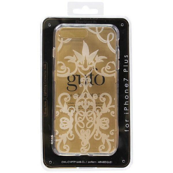 OWLTECHオウルテックiPhone7Plus用gufoTPUケースクリアストラップホール付アラベスクOWL-CVIP7P16AB-CL