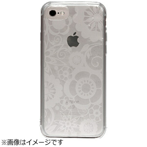 OWLTECHオウルテックiPhone7Plus用gufoTPUケースクリアストラップホール付フラワーOWL-CVIP7P16FL-CL