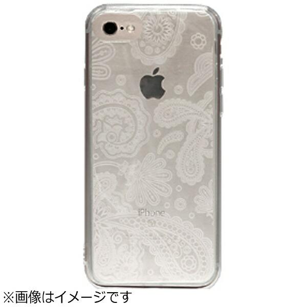 OWLTECHオウルテックiPhone7Plus用gufoTPUケースクリアストラップホール付ペイズリーOWL-CVIP7P16PA-CL