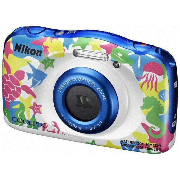 【送料無料】ニコンW100コンパクトデジタルカメラCOOLPIX(クールピクス)マリン[防水+防塵+耐衝撃]