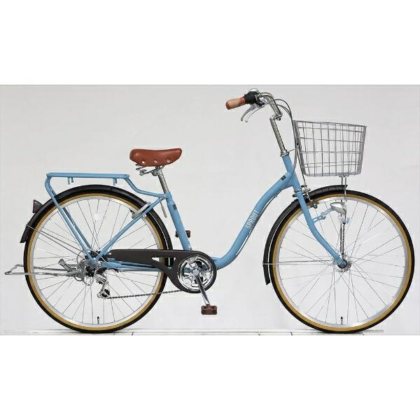 アサヒサイクルAsahiCycle【ビックグループオリジナル】26型自転車スプラウト266(マットブルーグレー/6段変速)FD66LG【組立商品につき返品不可】【point_rb】【代金引換配送不可】