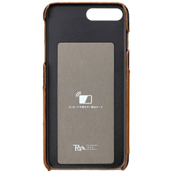 PGAiPhone7Plus用カードポケット付きハードケースグリーンPG-16LCA01GR