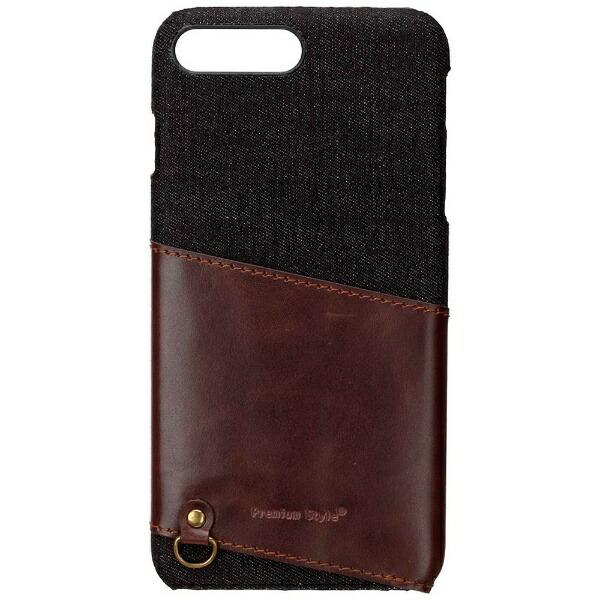 PGAiPhone7Plus用カードポケット付きハードケースブラックPG-16LCA04BK