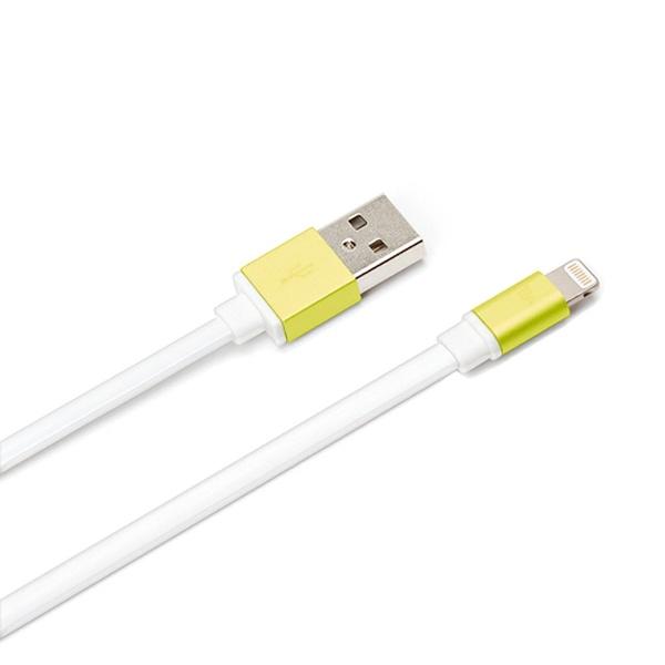 PGA[ライトニング]ケーブル充電・転送(0.8m・イエロー)MFi認証PG-LC08M05YE[0.8m]