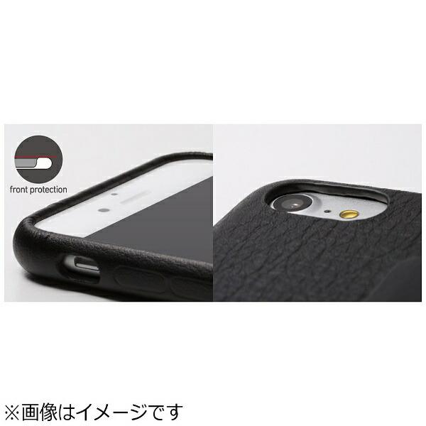DEFFディーフiPhone7Plus用手帳型レザーケースRONDACarbon&SpanishLeatherCaseカーボンフリップタイプブラックDCS-IP7PRAFCLBK