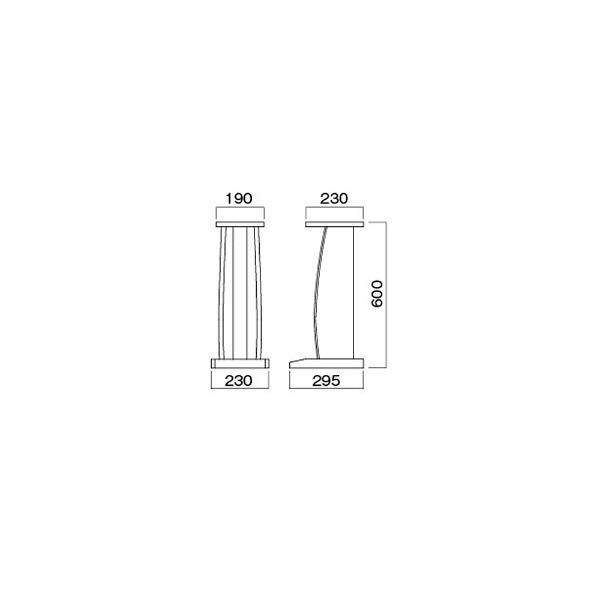 ハヤミ工産HayamiIndustry小型スピーカースタンド(2台1組)NX-B300T