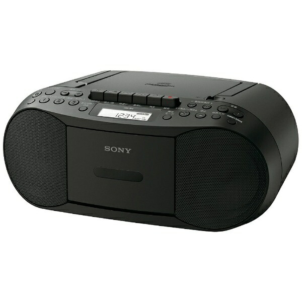 ソニーSONYCFD-S70ラジカセブラック[ワイドFM対応/CDラジカセ][CFDS70BC]