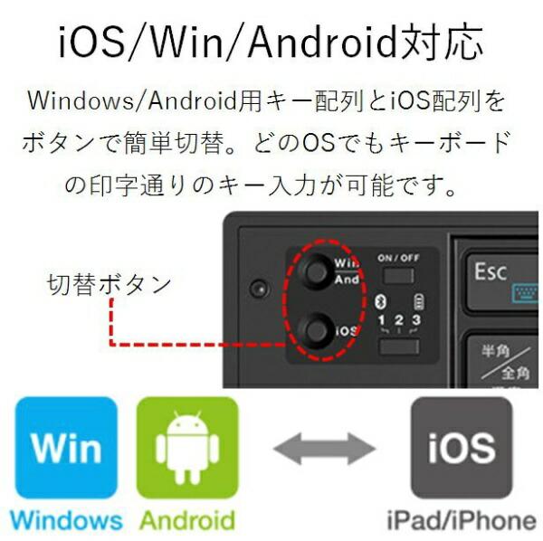 エレコムELECOM【スマホ/タブレット対応】ワイヤレスキーボード[Bluetooth3.0・Android/iOS/Win]タブレットスタンド付き(日本語79キー・ブラック)TK-FLP01BK[TKFLP01BK]