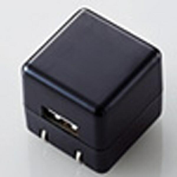 エレコムELECOMオーディオ用AC充電器CUBE/1A出力/USB1ポート(ブラック)AVA-ACUAN007BK