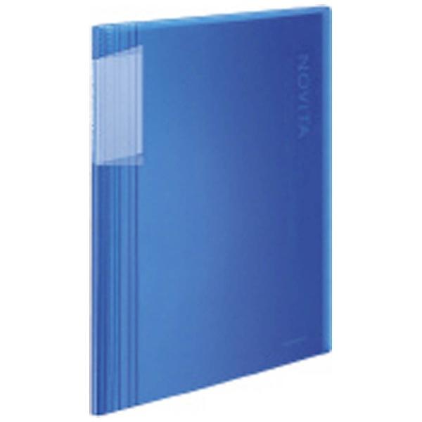コクヨKOKUYOクリヤーブック固定式ノビータA4縦60ポケットラ-N60B青