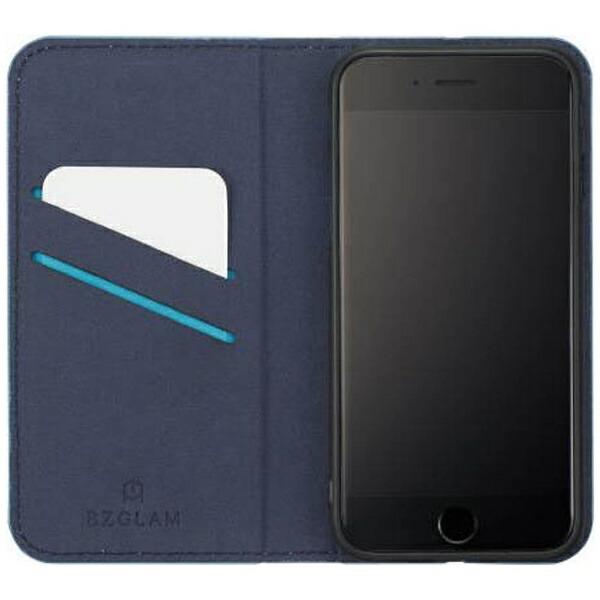 サンクレストSUNCRESTiPhone7用手帳型BZGLAMカモフラージュダイアリーカバーブルーiP7-BZ02