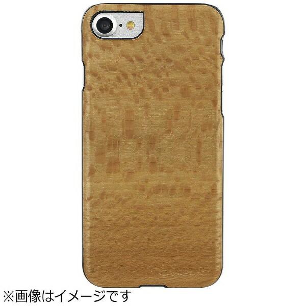 ROAロアiPhone7用天然木ケースPlatanoブラックフレームMan&WoodI8072i7