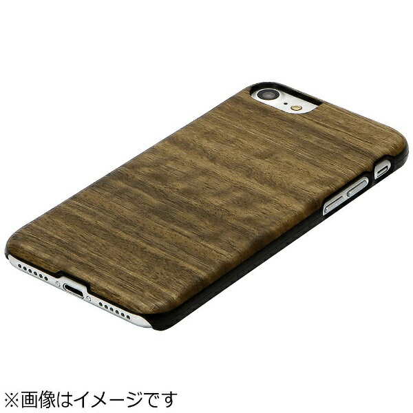 ROAロアiPhone7用天然木ケースKoalaブラックフレームMan&WoodI8069i7