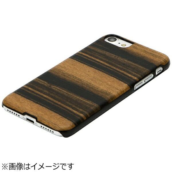 ROAロアiPhone7用天然木ケースEbonyブラックフレームMan&WoodI8068i7