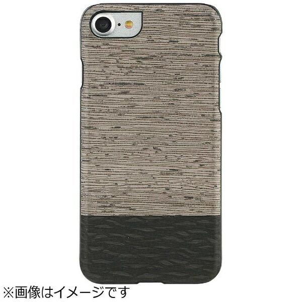 ROAロアiPhone7用天然木ケースLattisブラックフレームMan&WoodI8065i7