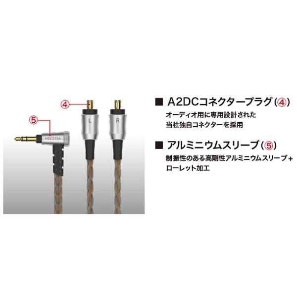 オーディオテクニカaudio-technicaリケーブル(インナーイヤー用/1.2m)HDC213A/1.2