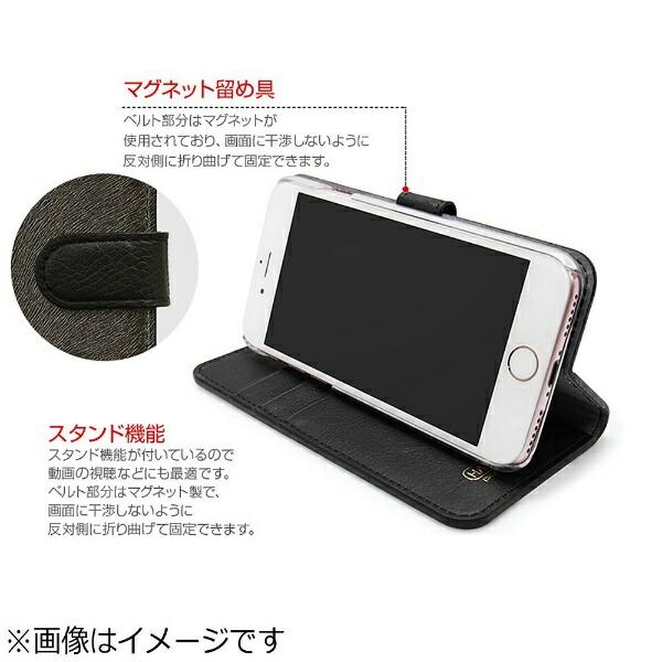 ROAロアiPhone7用手帳型CALFDiaryフォレストグリーンHANSMAREHAN8266i7