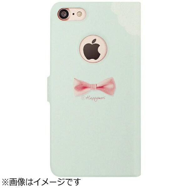 ROAロアiPhone7用手帳型DotScarfDiaryピンクスカーフHappymoriHM8234i7