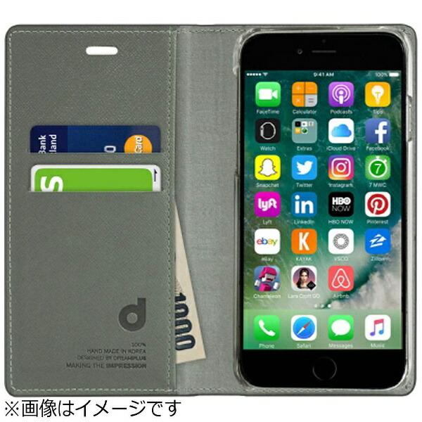 ROAiPhone7用手帳型レザーケースPersianLeatherDiaryシルバーdreamplusDP61756i7