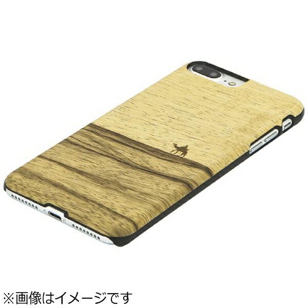 ROAロアiPhone7Plus用天然木ケースTerraブラックフレームMan&WoodI8084i7P