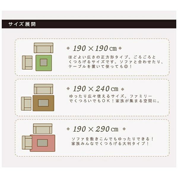 イケヒコIKEHIKOラグ更科II(190×290cm/グリーン)