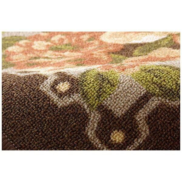 イケヒコIKEHIKOラグ撥水キャンベル(176×176cm/ブラウン)