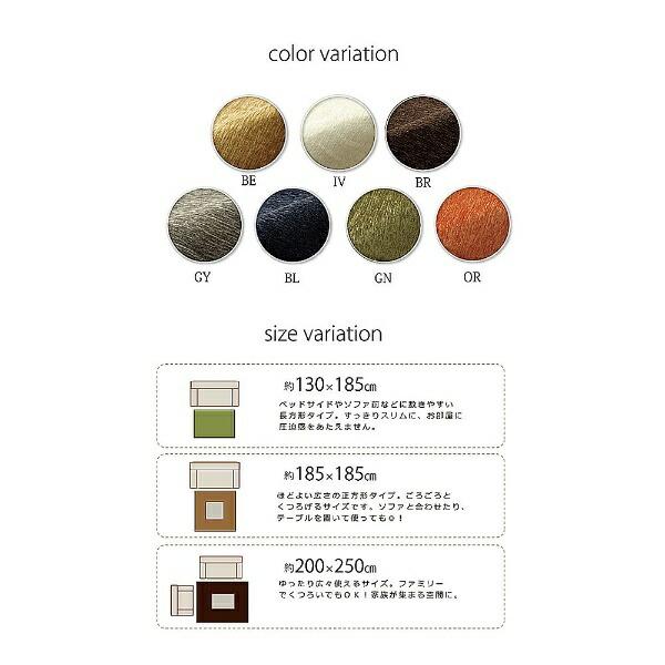 イケヒコIKEHIKOラグモデルノ(200×250cm/グリーン)