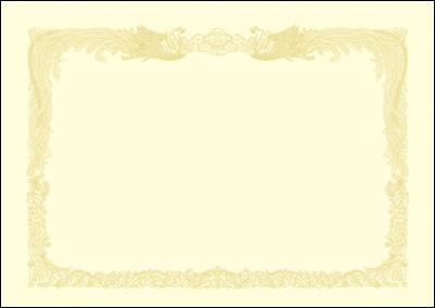 ササガワSASAGAWA厚口OA賞状用紙A3判縦書用100クリーム10-1387