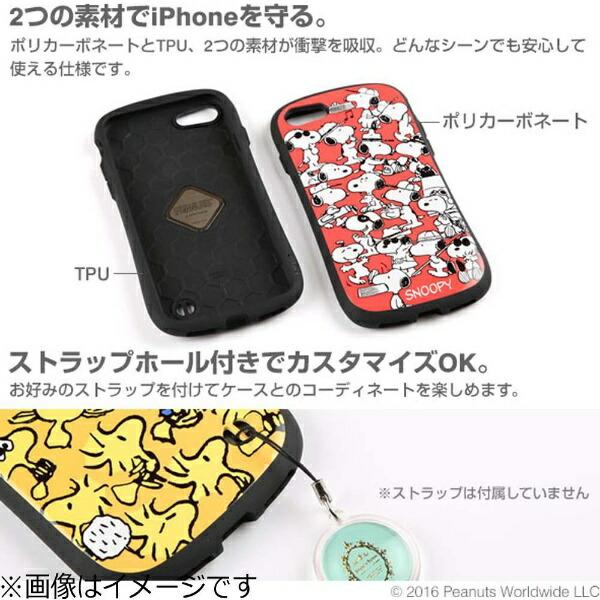 HAMEEハミィiPhone7用PEANUTS/ピーナッツiFaceFirstClassケースチャーリー・ブラウン/ネイビー