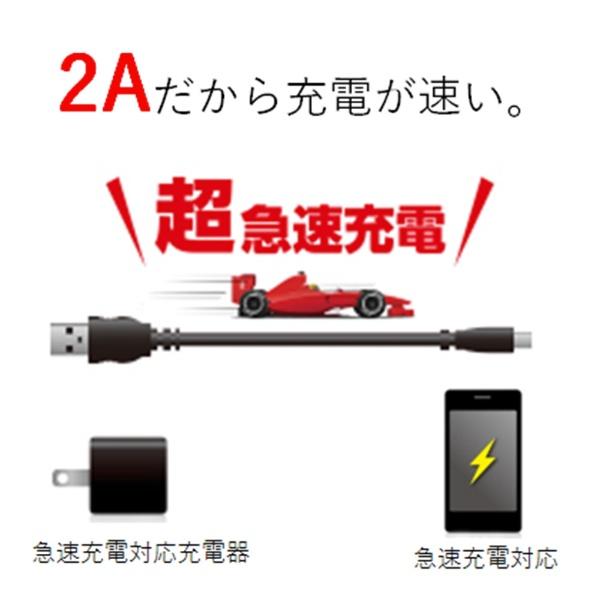 エレコムELECOM[microUSB]USBケーブル充電・転送2A(2m・ブラック)MPA-AMBS2U20BK[2.0m]