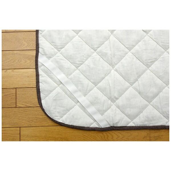 イケヒコIKEHIKO【敷パッド】マドラスセミダブルサイズ(120×205cm/ブラウン)