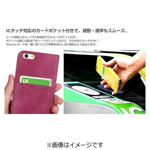 HAMEEハミィiPhone7用手帳型COSMOFLIPコスモフリップ窓付きダイアリーケースホットピンク