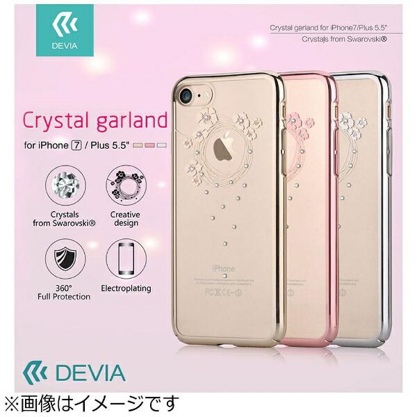BELEXビーレックスiPhone7Plus用DeviaCrystalGarlandローズゴールドBLDVCS7036RG