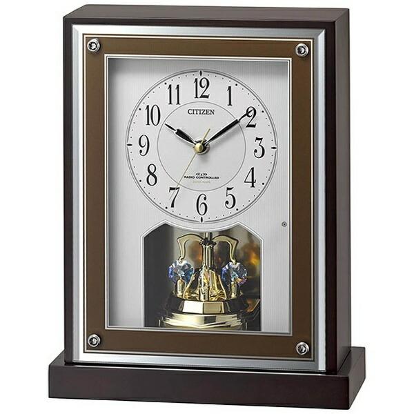 リズム時計RHYTHM置き時計茶8RY413-006[電波自動受信機能有]