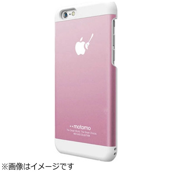 UIユーアイiPhone6sPlus/6Plus用INOMETALBR3ピンク/ホワイトmotomoINOBR3PPK
