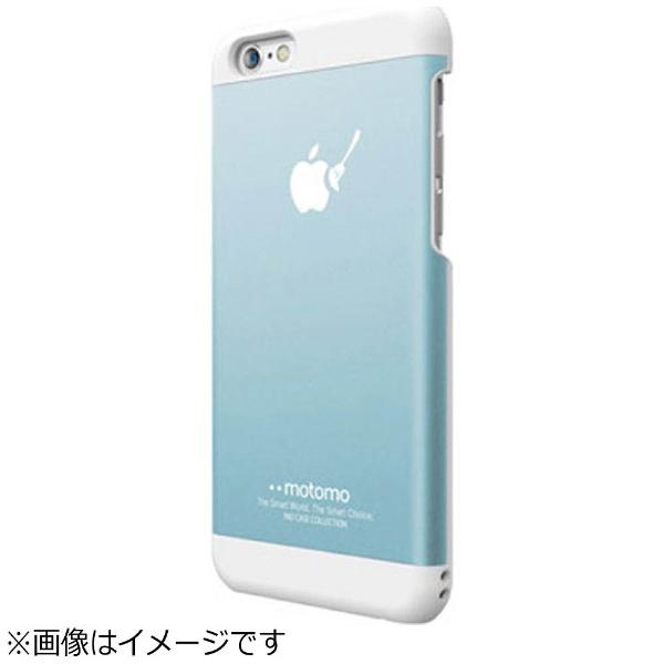 UIユーアイiPhone6sPlus/6Plus用INOMETALBR3アクアブルー/ホワイトmotomoINOBR3PABL
