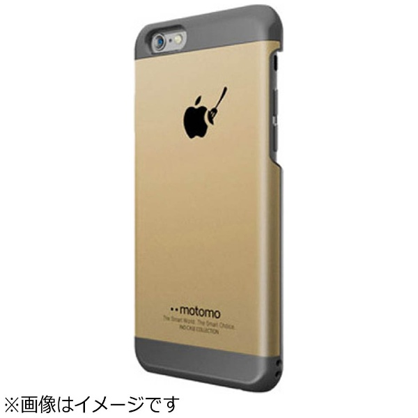 UIユーアイiPhone6sPlus/6Plus用INOMETALBR3ゴールド/ブラックmotomoINOBR3PGD