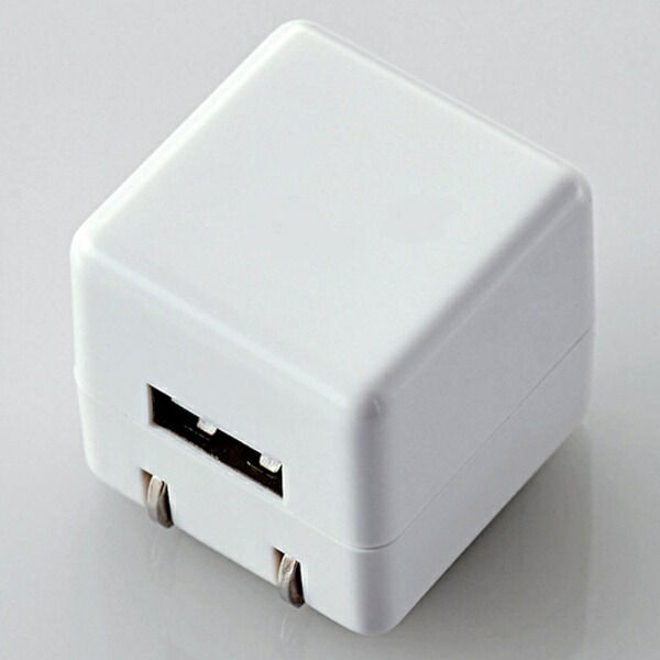 エレコムELECOMオーディオ用AC充電器/forWalkman/CUBE/1A出力/USB1ポート(ホワイト)AVS-ACUAN007WH