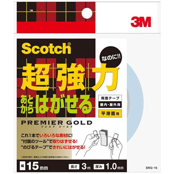 3Mジャパンスリーエムジャパン3M超強力なのにあとからはがせる両面テープ15mmX3mSRG-15