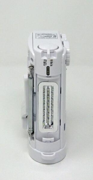 KOHKA廣華物産手回し充電ラジオライトWINTECH(ウィンテック)ホワイトKDR-107W[AM/FM/ワイドFM対応][KDR107W]
